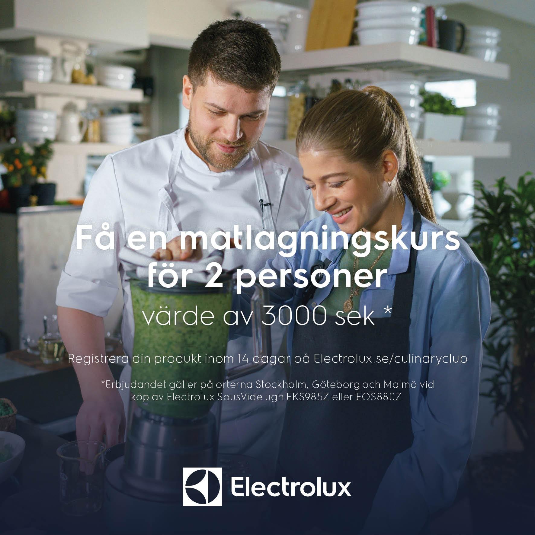 Matlagningskurs på köpet! Värde 3000kr*